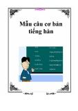 Mẫu câu cơ bản tiếng hàn
