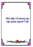 Hỏi đáp về phong tục tập quán người Việt