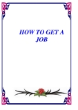 EBOOK: HOW TO GET A JOB