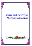 Trade and Poverty Is There a Connection
