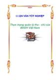 """Luận văn tốt nghiệp """"Thực trạng quản lý thu - chi của BHXH Việt Nam"""""""