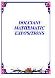 DOLCIANI  MATHEMATIC EXPOSITIONS