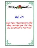 """Luận văn tốt nghiêp """"Kiến nghị và giải pháp nhằm nâng cao hiệu quả của công tác thu BHXH ở Việt Nam"""""""
