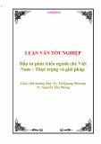 """Luận văn tốt nghiệp """"Đầu tư phát triển ngành Chè Việt Nam - Thực trạng và giải pháp"""""""