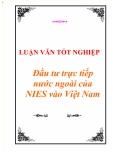 """Luận văn tốt nghiệp """"Đầu tư trực tiếp nước ngoài của NIEs vào Việt Nam"""""""
