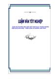 """Luận văn tốt nghiệp """"Quan hệ thương mại giữa Việt Nam và EU trong 10 năm qua (1990 - 2000) và đề ra triển vọng và những giải pháp"""""""