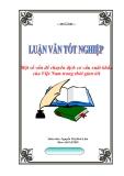 """Luận văn tốt nghiệp """"Một số vấn đề về chuyển dịch cơ cấu xuất khẩu của Việt Nam trong thời gian tới"""""""