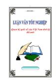 """Luận văn tốt nghiệp """"Quan hệ quốc tế của Việt Nam thời kỳ đổi mới"""""""