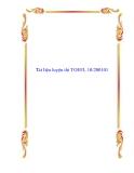 Tài liệu luyện thi TOEFL 10/2001