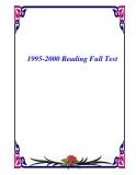 1995-2000 Reading Full Test