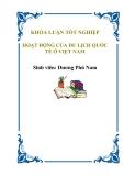 """Luận văn tốt nghiệp """"Hoạt động của Du lịch Quốc tế ở Việt Nam"""""""