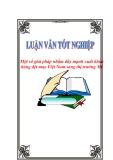 """Luận văn tốt nghiệp """"Một số giải pháp nhằm đẩy mạnh xuất khẩu hàng dệt may Việt Nam sang thị trường Mỹ"""""""