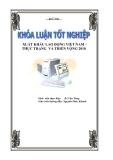 """Luận văn tốt nghiệp """"Xuất khẩu lao động Việt Nam - Thực trạng và triển vọng đến 2010"""""""