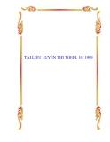 TÀI LIỆU LUYỆN THI TOEFL 10/ 1999