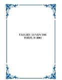 TÀI LIỆU LUYỆN THI TOEFL 5/ 2002