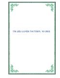 TÀI LIỆU LUYỆN THI TOEFL 10/ 2003