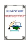"""Luận văn tốt nghiệp """"Vận dụng marketing vào thực tiễn kinh doanh của Hãng Hàng không Quốc gia Việt Nam"""""""