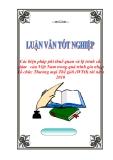 """Luận văn tốt nghiệp """"Các biện pháp phi thuế quan và lộ trình cắt giảm   của Việt Nam trong quá trình gia nhập Tổ chức Thương mại Thế giới (WTO) tới năm 2010"""""""