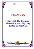 """Luận văn tốt nghiệp """"Quy trình đấu thầu mua sắm thiết bị của Tổng Công ty Dầu khí Việt Nam"""""""