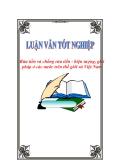 """Luận văn tốt nghiệp """"Rửa tiền và chống rửa tiền - hiện tượng, giải pháp ở các nước trên thế giới và Việt Nam"""""""