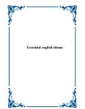 Tài liệu Essential english idoms