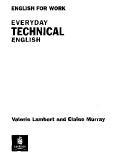 English for work: Everyday Technical English