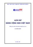Bài giảng Lịch sử Đảng Cộng sản Việt Nam (Dùng cho sinh viên hệ đào tạo đại học từ xa)