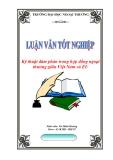 """Luận văn tốt nghiệp: Kỹ thuật đàm phán trong hợp đồng ngoại thương giữa Việt Nam và EU"""""""