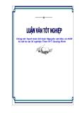 """Luận văn tốt nghiệp """"Công tác hạch toán kế toán Nguyên vật liệu và thiết bị vật tư tại Xí nghiệp Than 917 Quảng Ninh"""""""