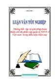 """ĐỀ ÁN:  """"Những bất  cập và giải pháp hoàn thiện chế độ phân cấp quản lý NSNN ở Việt nam  trong điều kiện hiện nay."""