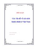 ĐỀ ÁN VỀ: 'Các vấn đề về cải cách hành chính ở Việt Nam'