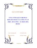 """Luận văn tốt nghiệp về """"Tăng cường quản trị hoạt động bán hàng của công ty Cơ - Điện - Đo lường – Tự động hóa DKNEC"""""""