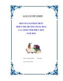 """Luận văn tốt nghiệp """"Một số giải pháp phát triển thị trường hàng hoá của tỉnh Vĩnh Phúc đến năm 2010"""""""