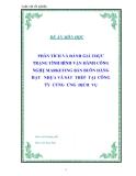 """Luận văn tốt nghiệp """"TPHÂN TÍCH VÀ ĐÁNH GIÁ THỰC TRẠNG TÌNH HÌNH VẬN HÀNH CÔNG NGHỆ MARKETING BÁN BUÔN HÀNG HẠT   NHỰA VÀ SẮT  THÉP  TẠI  CÔNG  TY  CUNG  ỨNG  DỊCH  VỤ """""""