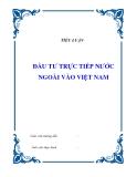 """Tiểu luận """"Đầu tư trực tiếp nước ngoài vào Việt Nam"""""""