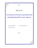 """Tiểu luận """"Vai trò kinh tế của Nhà nước trong nền kinh tế thị trường định hướng XHCN ở nước ta hiện nay"""""""