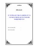 Tiểu luận: Tư tưởng Đức Trị của Khổng Tử và vận dụng trong quản lý doanh nghiệp hiện nay