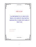 """Tiểu luận """"Vai trò kinh tế của nhà nước trong nền KTTT định hướng XHCN ở Việt Nam"""""""