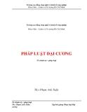 Tập bài giảng Pháp luật đại cương - Th.S Phạm Anh Tuấn