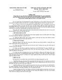 Hướng dẫn Thực hiện cho vay vốn theo Quyết định số 30/2009/QĐ - TTg ngày 23/02/2009 của Thủ tướng Chính phủ về việc hỗ trợ đối với người lao động mất việc làm trong doanh nghiệp gặp khó khăn do suy giảm kinh tế