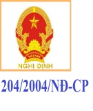 Nghị định số 204/2004/NĐ-CP về chế độ tiền lương đối với cán bộ, công chức, viên chức và lực lượng vũ trang