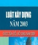 Luật Xây dựng số 16/2003/QH11