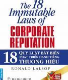 18 Quy luật bất biến phát triển danh tiếng công ty