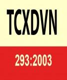 Tiêu chuẩn xây dựng Việt Nam TCXDVN 293:2003