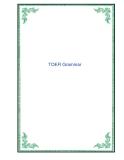 Tài liệu về TOEFl Grammar