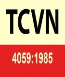 Tiêu chuẩn Việt Nam TCVN 4059:1985