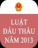 Luật Đấu thầu năm 2013