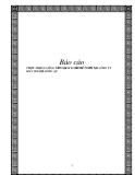 Báo cáo - THỰC TRẠNG CÔNG TÁC HẠCH TOÁN KẾ TOÁN TẠI CÔNG TY MAY 19/5-BỘ CÔNG AN