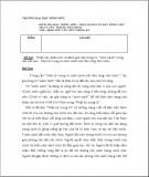 Kiểm tra học trình môn: Thực hành văn bản tiếng việt