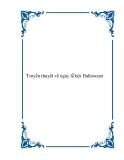 Truyền thuyết về ngày lễ hội Halloween